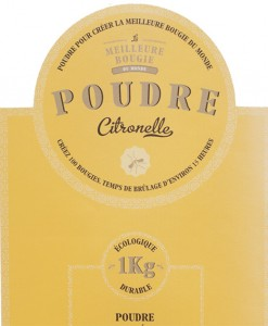 Citronella DIY powder for natural candle