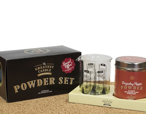 darjeelig flower powder set for candles